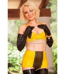 Latex Lingerie with Lace