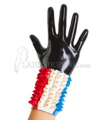 Short Gloves with France Football Flag