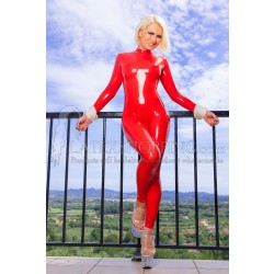 Rotes Latex Catsuit